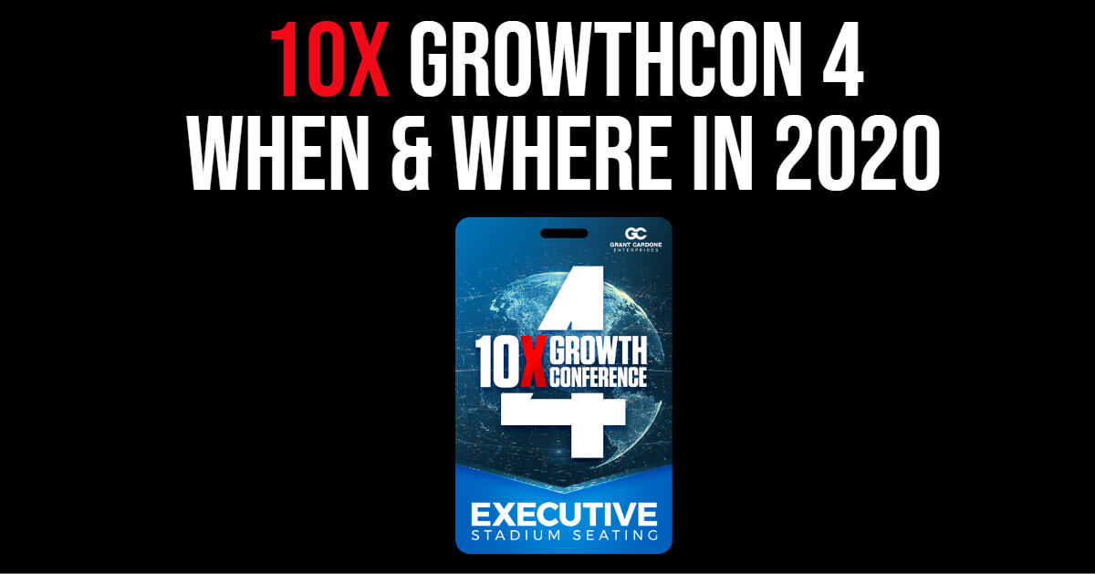 Where Will Grant Cardone's 10X Growth Conference 4 Location